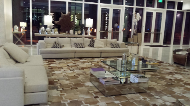 Comfortable and chic hotel lobby
